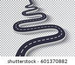 winding road isolated... | Shutterstock .eps vector #601370882