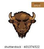 american bison bull mascot head ...