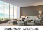 modern living room with... | Shutterstock . vector #601378886