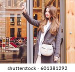 fashion and beauty. the redhead ... | Shutterstock . vector #601381292