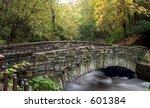 foot bridge across minnehaha...   Shutterstock . vector #601384