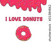 vector donut picture for t... | Shutterstock .eps vector #601384862