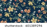 seamless floral pattern in... | Shutterstock .eps vector #601389296