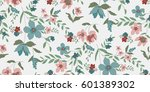 seamless floral pattern in... | Shutterstock .eps vector #601389302