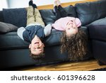 pretty little girl and boy are... | Shutterstock . vector #601396628