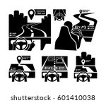 vehicle dashboard head up... | Shutterstock .eps vector #601410038