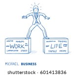 business man standing on two... | Shutterstock .eps vector #601413836