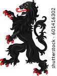 the rebels lion   the heraldic...   Shutterstock .eps vector #601416302