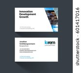 vector business card template... | Shutterstock .eps vector #601417016
