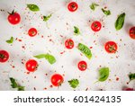 preparation of food background  ...   Shutterstock . vector #601424135