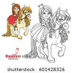 beautiful little princess... | Shutterstock .eps vector #601428326