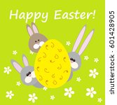 happy easter greeting card with ...   Shutterstock .eps vector #601428905