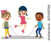 cute little children playing... | Shutterstock .eps vector #601430366