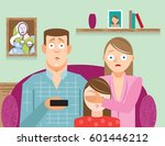 mothering covering child's eyes ... | Shutterstock .eps vector #601446212