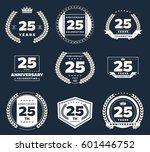 twenty five years anniversary... | Shutterstock .eps vector #601446752