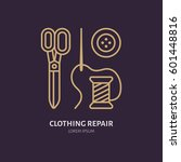 clothing repair service line... | Shutterstock .eps vector #601448816