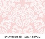 seamless white lace background... | Shutterstock .eps vector #601455932