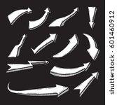 set of doodle arrow vector... | Shutterstock .eps vector #601460912