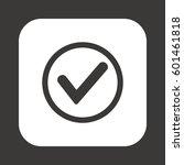 check  icon. flat design. | Shutterstock .eps vector #601461818