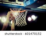 basketball going through the... | Shutterstock . vector #601470152