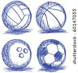 set of ball doodle | Shutterstock .eps vector #60147055