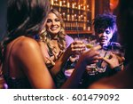 group of friends having drinks... | Shutterstock . vector #601479092