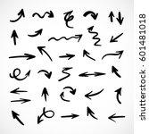 hand drawn arrows  vector set | Shutterstock .eps vector #601481018