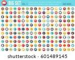 vol 1. flat big collection set...   Shutterstock .eps vector #601489145