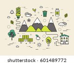 thin line natural resources... | Shutterstock .eps vector #601489772