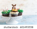 Served Easter Cup Cakes On...