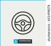 steering wheel icon. simple... | Shutterstock .eps vector #601498076