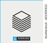 paper icon. simple outline... | Shutterstock .eps vector #601504322