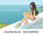 vector isolated sketchy style... | Shutterstock .eps vector #601504502