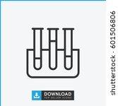 test tube icon. simple outline... | Shutterstock .eps vector #601506806