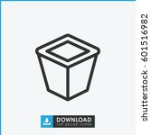 pot for plants icon. simple... | Shutterstock .eps vector #601516982