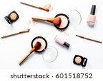 decorative cosmetics nude on... | Shutterstock . vector #601518752