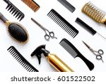 Combs And Hairdresser Tools On...