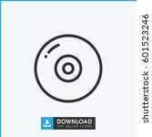 disc icon. simple outline disc... | Shutterstock .eps vector #601523246