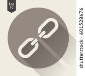 broken chain link flat icon.... | Shutterstock .eps vector #601528676