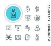 vector illustration of 12... | Shutterstock .eps vector #601535432