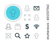 vector illustration of 12 user... | Shutterstock .eps vector #601537562