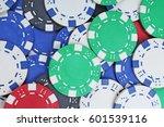 casino poker money chips... | Shutterstock . vector #601539116