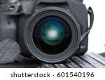 Close Up Dslr Camera Lens On...