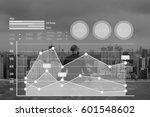 graph data show summary... | Shutterstock . vector #601548602
