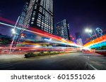 traffic through the modern city | Shutterstock . vector #601551026