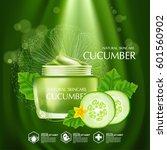 cucumber natural moisture skin... | Shutterstock .eps vector #601560902