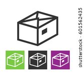 package  parcel  gift  box icon ...   Shutterstock . vector #601562435