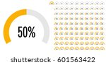set of circle percentage... | Shutterstock .eps vector #601563422