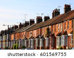 english row terrace house in... | Shutterstock . vector #601569755