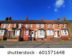 english terraced house with... | Shutterstock . vector #601571648